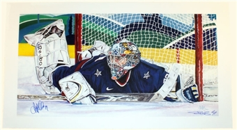 Ryan Miller Autographed Winter Games Lithograph #ed to 500 Blue Signature