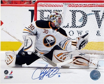 Ryan Miller Autographed Buffalo Sabres 8x10 Hockey Photo