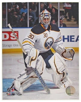 Ryan Miller Buffalo Sabres 8x10 Hockey Photo 2012/13 white jersey retail