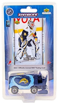 Ryan Miller Buffalo Sabres Hockey Upper Deck 1:50 Mini Zamboni and Card