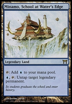 Magic the Gathering Champs of Kamigawa Single Minamo, School at Water's Edge FOIL - MP