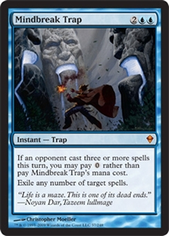 Magic the Gathering Zendikar Single Mindbreak Trap Foil