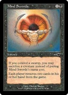 Magic the Gathering Nemesis Single Mind Swords Foil