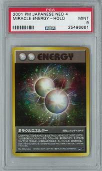 Pokemon Japanese Neo 4 Miracle Energy Holo Rare PSA 9