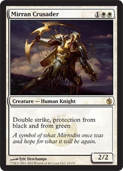 Magic the Gathering Mirrodin Besieged Single Mirran Crusader UNPLAYED (NM/MT)