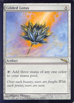 Magic the Gathering Mirrodin Single Gilded Lotus UNPLAYED (NM/MT)