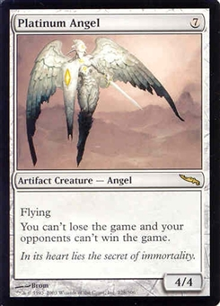 Magic the Gathering Mirrodin Single Platinum Angel MODERATE PLAY (VG/EX)