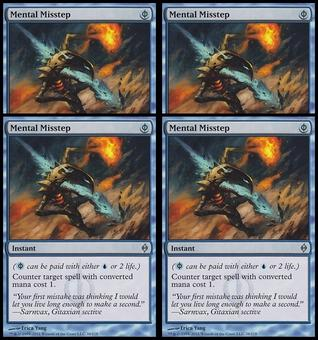 Magic the Gathering New Phyrexia PLAYSET Mental Misstep FOIL NEAR MINT (NM)