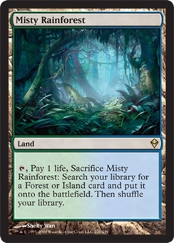 Magic the Gathering Zendikar Single Misty Rainforest FOIL NEAR MINT (NM)