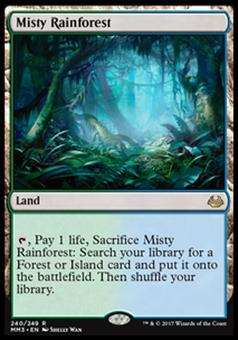 Magic the Gathering Modern Masters 2017 Single Misty Rainforest FOIL - NEAR MINT (NM)