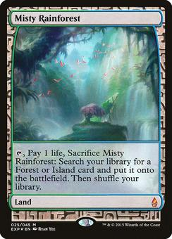 Magic the Gathering Zendikar Single Misty Rainforest - MODERATE PLAY (MP)