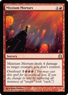 Magic the Gathering Return to Ravnica Single Mizzium Mortars Foil