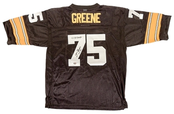 Joe Greene Autographed Pittsburgh Steelers Football Jersey (Fanatics)