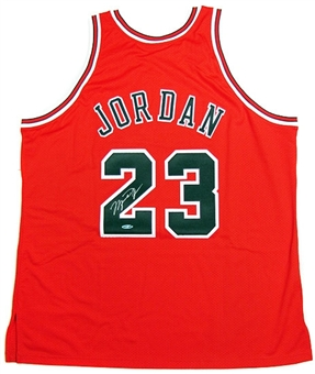 Michael Jordan Autographed Chicago Bulls Authentic Red Jersey