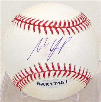 Matt Laporta Autographed Baseball (Stained) (UDA COA)
