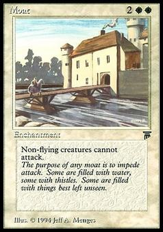 Magic the Gathering Legends Single Moat - SLIGHT PLAY (SP)