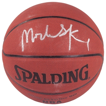 Michael Olowokandi Autographed Los Angeles Clippers I/O Spalding Basketball (Press Pass)