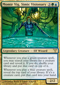 Magic the Gathering Dissension Single Momir Vig, Simic Visionary - NEAR MINT (NM)