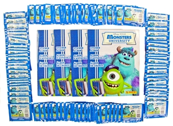 Pixar Monsters University Sticker (Panini) Closeout Lot (4 Albums & 100 Packs = 2 Boxes!)