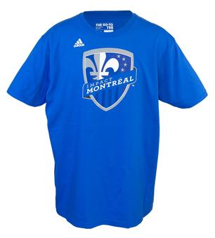 Montreal Impact Adidas The Go To Blue Tee Shirt (Adult M)