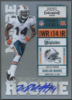 2010 Playoff Contenders #168 Marlon Moore /500 Rookie Autograph