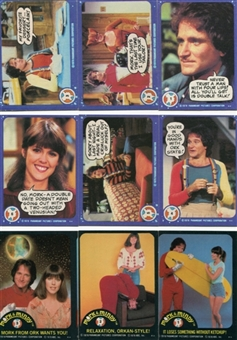 Mork & Mindy 1978 Topps 99 Card Set + 19 Stickers