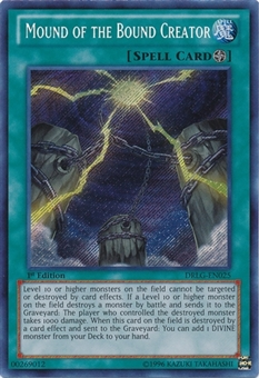Yu-Gi-Oh Dragons of Legend 1st Ed Single Mound of the Bound Creator Secret Rare - NEAR MINT (NM)