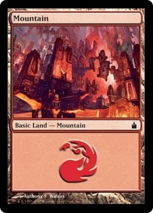 Magic the Gathering Mirrodin Single Mountain (301) Foil