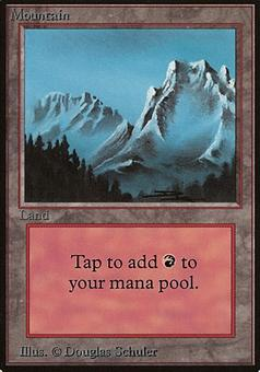 Magic the Gathering Beta Lot of 5 Mountains (all matching art, version 2)