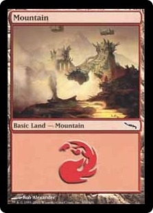 Magic the Gathering Mirrodin Single Mountain (300) Foil