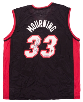 Alonzo Mourning Autographed Miami Heat Champion Jersey #93/250 (Fleer COA)