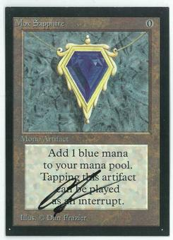 Magic the Gathering Beta Artist Proof Mox Sapphire - SIGNED BY DAN FRAZIER