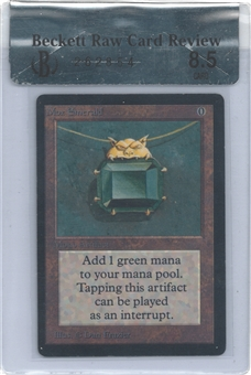 Magic the Gathering Beta Single Mox Emerald BGS 8.5 RAW REVIEW