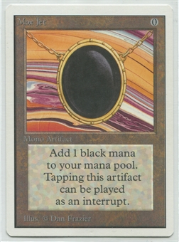 Magic the Gathering Unlimited Single Mox Jet - NEAR MINT / SLIGHT PLAY (NM/SP)