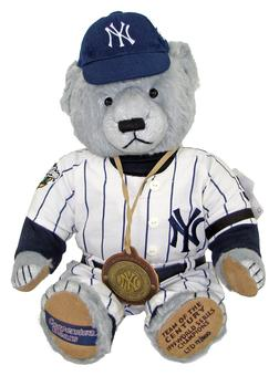 1999 New York Yankees World Series Team of the Century Teddy Bear #17/500 by Cooperstown Bears