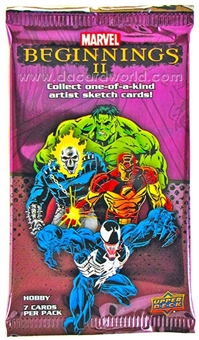 Marvel Beginnings II Trading Cards Hobby Pack (Upper Deck 2012)