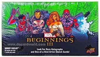Marvel Beginnings III Trading Cards Hobby Box (Upper Deck 2012)