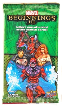 Marvel Beginnings III Trading Cards Hobby Pack (Upper Deck 2012)