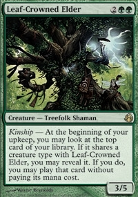 Magic the Gathering Morningtide Single Leaf-Crowned Elder - NEAR MINT (NM)