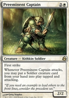 Magic the Gathering Morningtide Single Preeminent Captain - NEAR MINT (NM)