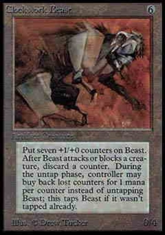 Magic the Gathering Alpha Single Clockwork Beast UNPLAYED (NM/MT)