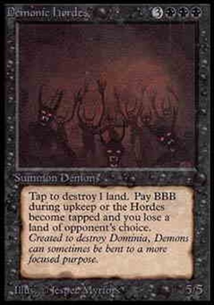 Magic the Gathering Alpha Single Demonic Hordes UNPLAYED (NM/MT)