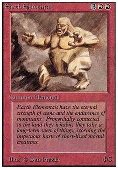 Magic the Gathering Alpha Single Earth Elemental - SLIGHT PLAY (SP)