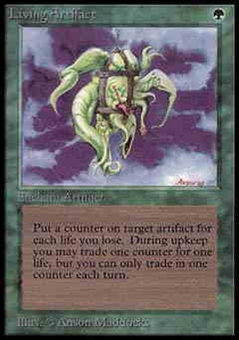 Magic the Gathering Alpha Single Living Artifact - NEAR MINT (NM)