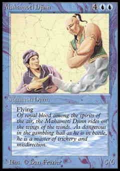 Magic the Gathering Alpha Single Mahamoti Djinn UNPLAYED (NM/MT)