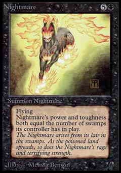 Magic the Gathering Alpha Single Nightmare UNPLAYED (NM/MT)
