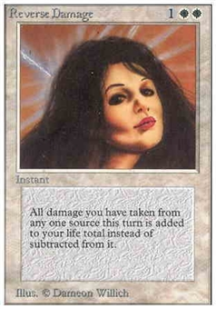Magic the Gathering Alpha Single Reverse Damage - NEAR MINT (NM)