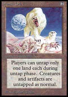 Magic the Gathering Alpha Single Winter Orb - NEAR MINT (NM)