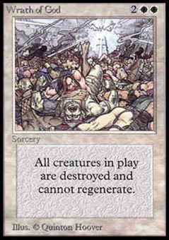 Magic the Gathering Alpha Single Wrath of God - NEAR MINT (NM)
