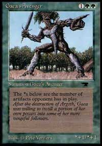 Magic the Gathering Antiquities Single Gaea's Avenger - MODERATE PLAY (MP)
